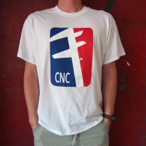 White CNC Machinist T-Shirt