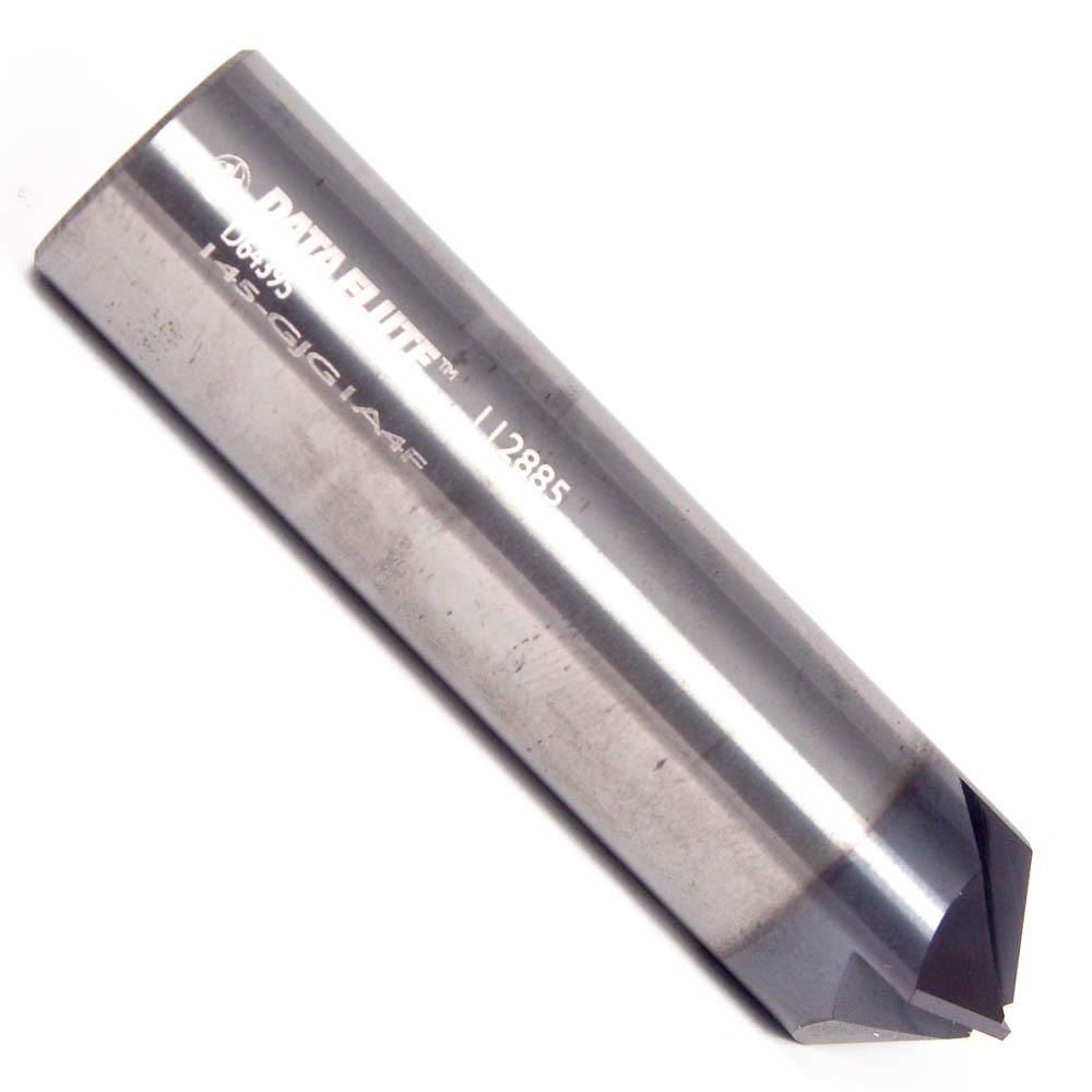 Carbide Chamfer Mill AlTiN 3//4 4FL 90-Deg MTC-62566