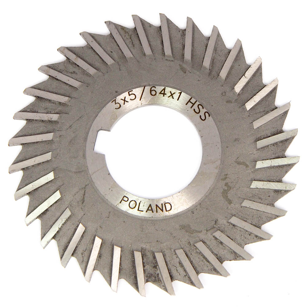 "3 x 3//16 x 1/"" HSS Metal Slitting Saw With Staggered Side Teeth"