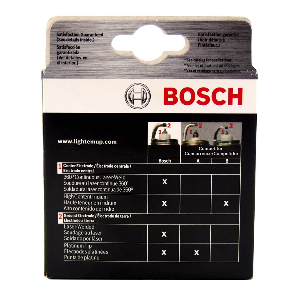 SET OF 4 BOSCH 9609 IRIDIUM SPARK PLUGS