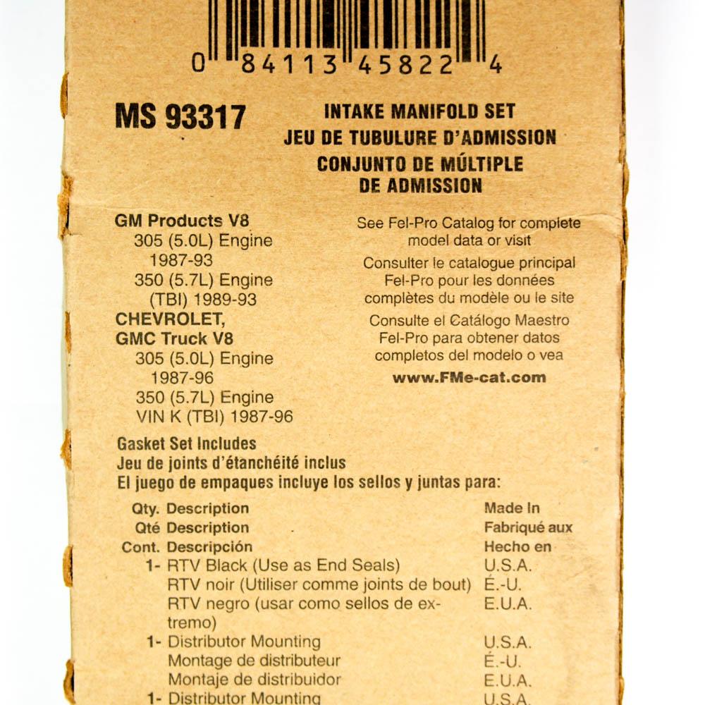 Engine Intake Manifold Gasket Set Fel-Pro MS 93317