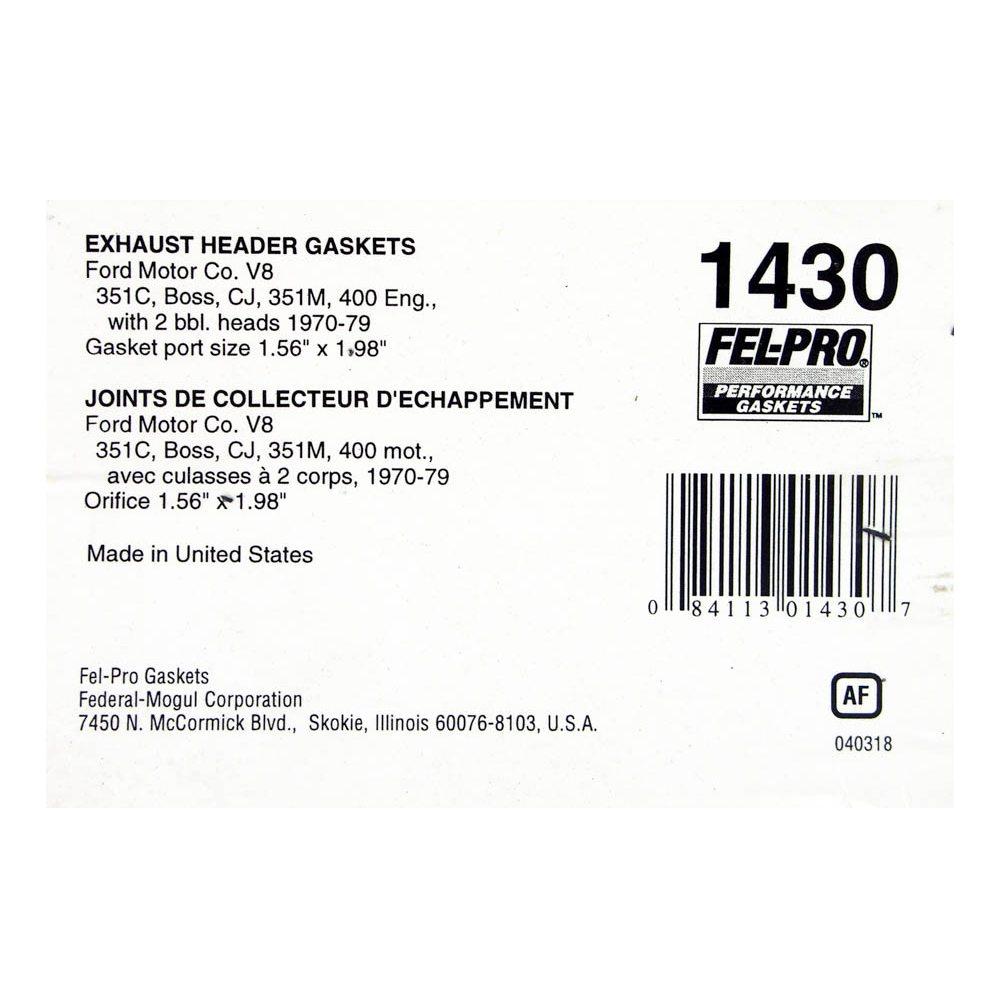 Exhaust Manifold Gasket Set FEL-PRO Performance 1430