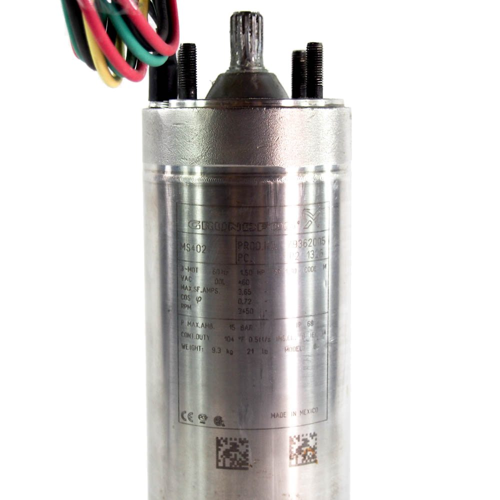 Submersible Motor 1 1 2hp 460v 3phase 3 Wire 4 Quot For Ms402