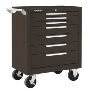 KENNEDY 277XB 7-Drawer Brown Heavy Duty Steel Roller Tool Cabinet