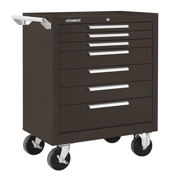 KENNEDY 277XB 7-Drawer Brown Heavy Duty Steel Roller Tool Cabinet