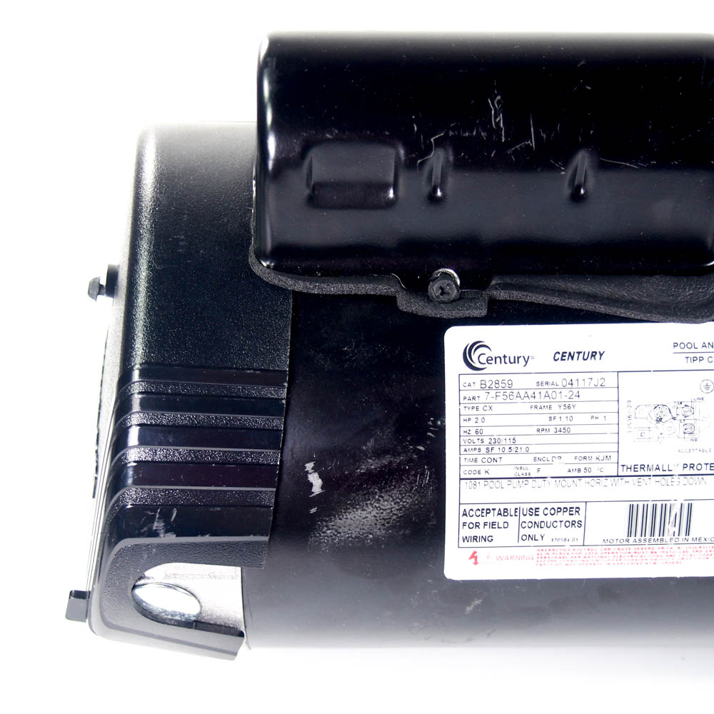 Century B2859 2 Hp Pool Pump Motor Square Flange 115 230v Wiring Code
