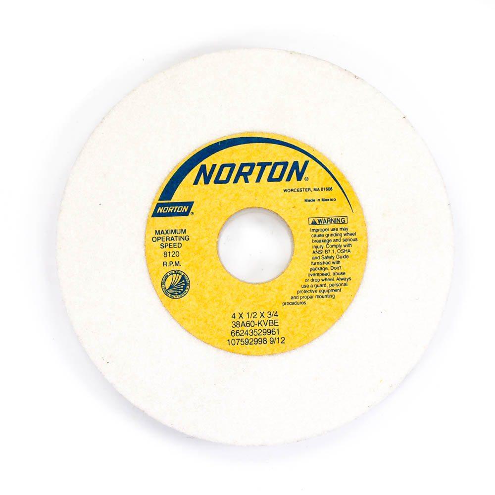 "NEW NORTON 4"" X 1//2/"" X 1//2/"" GRINDING WHEEL 38A60-KVBE"