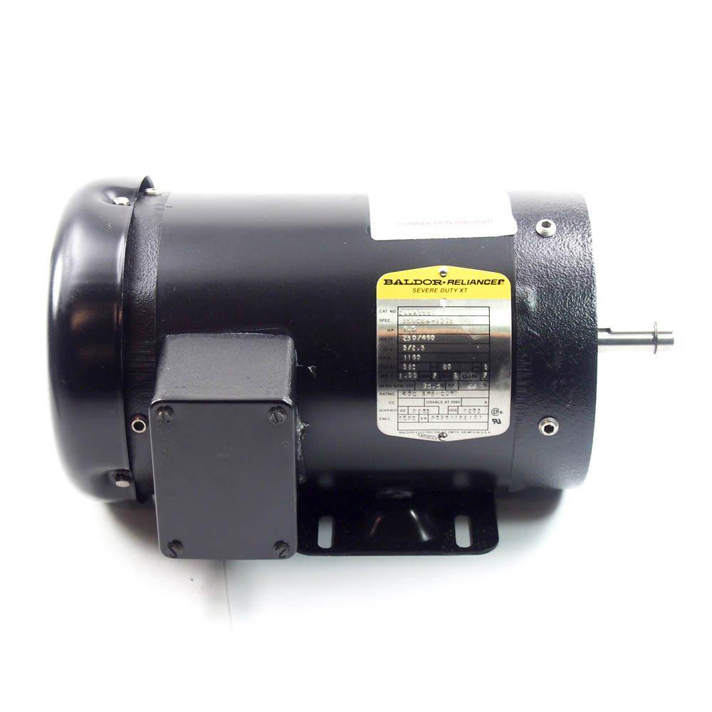 Baldor cwam3557 1 5 hp severe duty motor 1140 rpm 208 for Baldor 1 5 hp motor