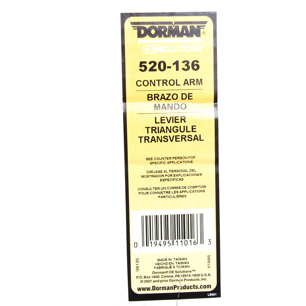 Control Arm With Ball Joint 520-136 Dorman OE Solutions